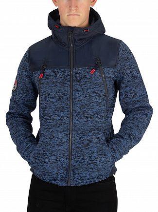 Superdry Indigo Navy Marl Mountain Zip Jacket
