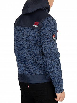 Superdry Indigo Navy Marl Mountain Zip Jacket