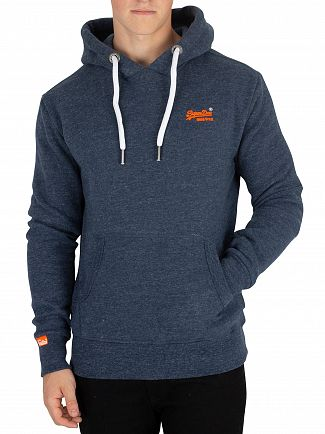 Superdry Washington State Blue Grit Orange Label Pullover Hoodie