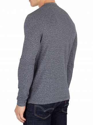 Superdry Ash Grey Fleck Orange Label Texture Longsleeved T-Shirt