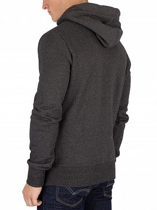 Superdry Low Light Black Grit Orange Label Zip Hoodie