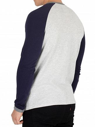 Superdry Ice Yarn Dye Premium Goods Raglan Longsleeved T-Shirt