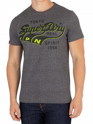 Superdry Black Grit Tokyo Spirit Heritage Classic T-Shirt
