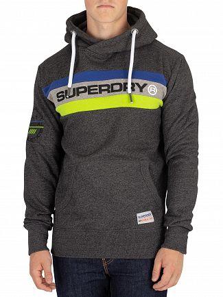 Superdry Black Grit Trophy Pullover Hoodie