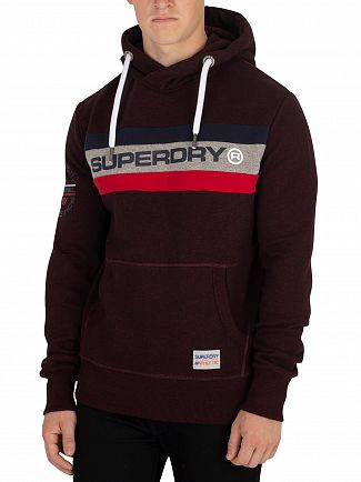 Superdry Bright Berry Grit Trophy Pullover Hoodie