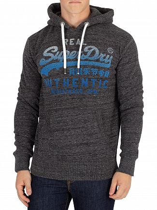 Superdry Asphalt Grey Vintage Authentic Fade Pullover Hoodie