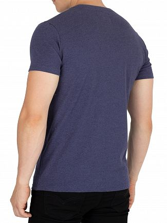 Superdry Princedom Blue Marl Vintage Authentic Fade T-Shirt