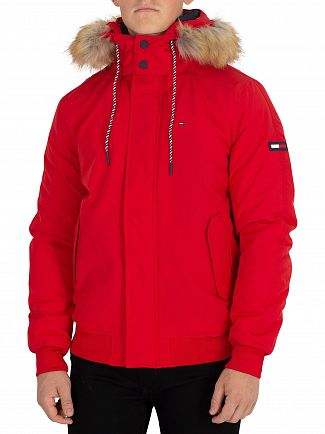 Tommy Jeans Red Technical Bomber Jacket