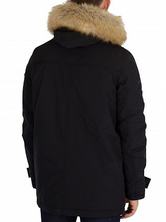 Tommy Jeans Black Technical Parka Jacket
