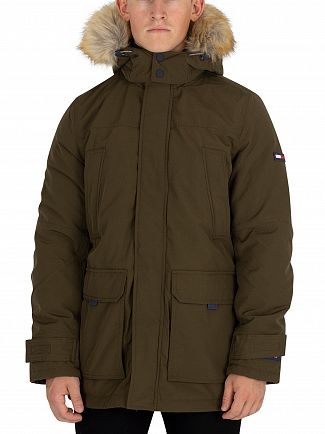 Tommy Jeans Green Technical Parka Jacket