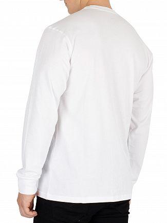 Vans White Graphic Longsleeved T-Shirt
