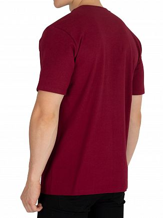 Carhartt WIP Mulberry/White College T-Shirt