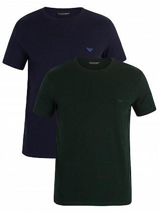 Emporio Armani Marine/Pine 2 Pack Crew T-Shirt