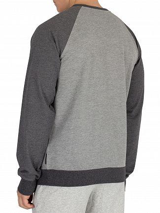 Emporio Armani Grey Melange Graphic Sweatshirt