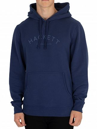 Hackett London Navy Mr Classic Pullover Hoodie