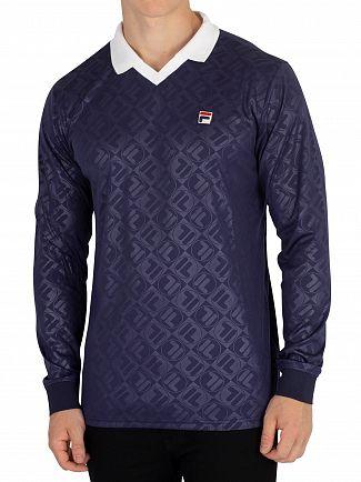 Fila Peacoat/White Carter Longsleeved Poloshirt