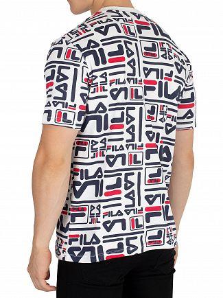 Fila Vintage White/Peacoat/Red Charlie T-Shirt