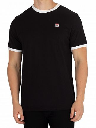 Fila Vintage Black/White Essential Vintage T-Shirt