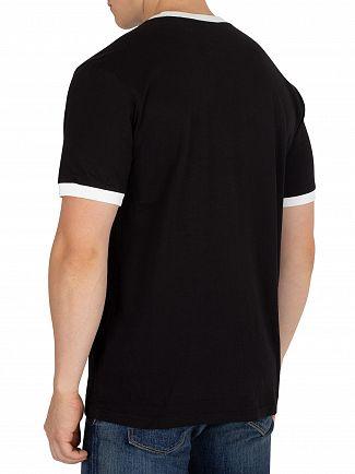 Fila Vintage Black/White Roscoe Ringer T-Shirt