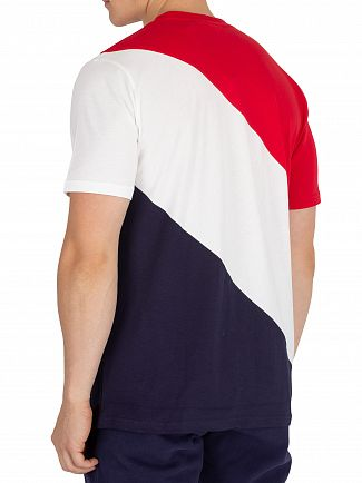 Fila Vintage Peacoat/White/Red Rowan Striped T-Shirt