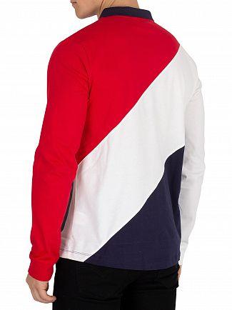 Fila Vintage Peacoat/White/Red Taygen Longsleeved Poloshirt