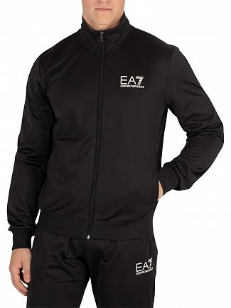 EA7 Black Logo Tracksuit