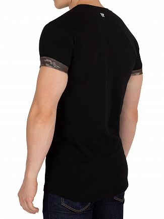11 Degrees Black Water Colour T-Shirt
