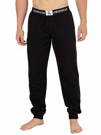 Calvin Klein Black Monogram Pyjama Bottoms
