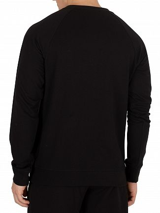 Calvin Klein Black Monogram Pyjama Top