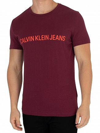 Calvin Klein Jeans Tawny Port Institutional T-Shirt