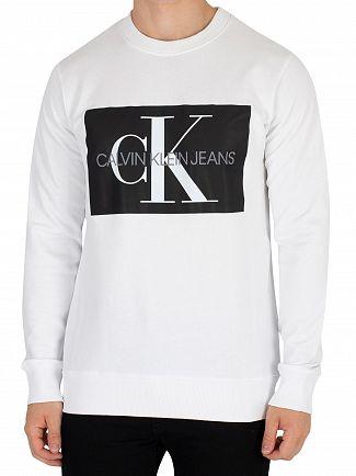 Calvin Klein Jeans Bright White Monogram Box Sweatshirt