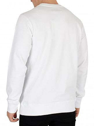 Calvin Klein Jeans Bright White Monogram Box Sweatshirt