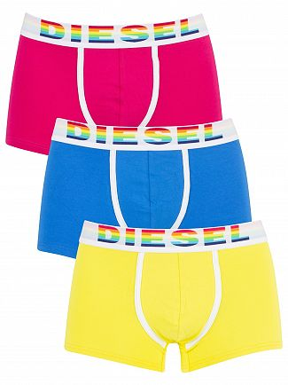 Diesel Yellow/Blue/Pink 3 Pack Damien Fresh & Bright Trunks