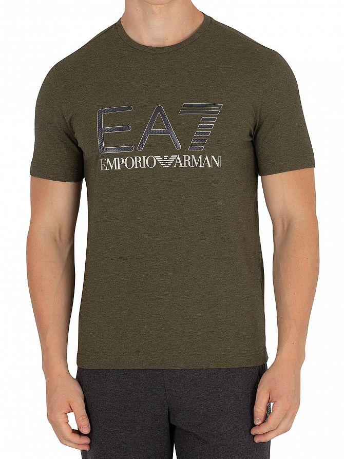 EA7 Green Melange Graphic T-Shirt