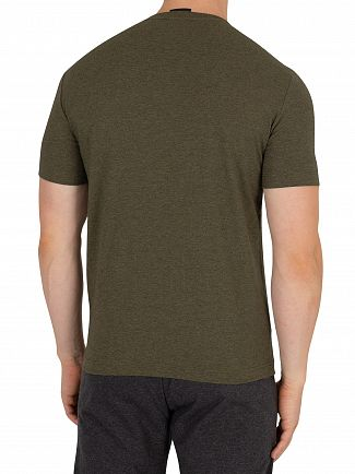 EA7 Green Melange Graphic T-Shirt