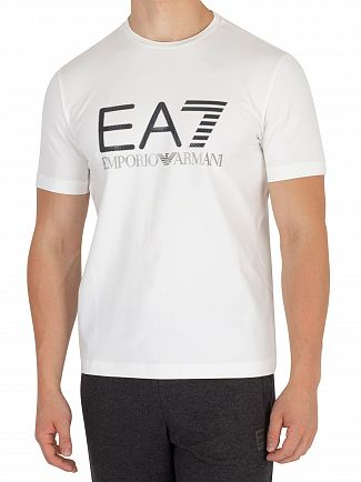 EA7 White Graphic T-Shirt