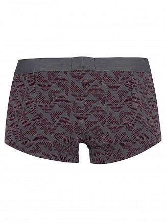Emporio Armani Grey Pattern Trunks