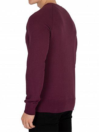 Gant Purple Fig Shield Sweatshirt