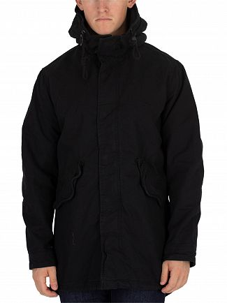 Jack & Jones Black New Bento Parka Jacket