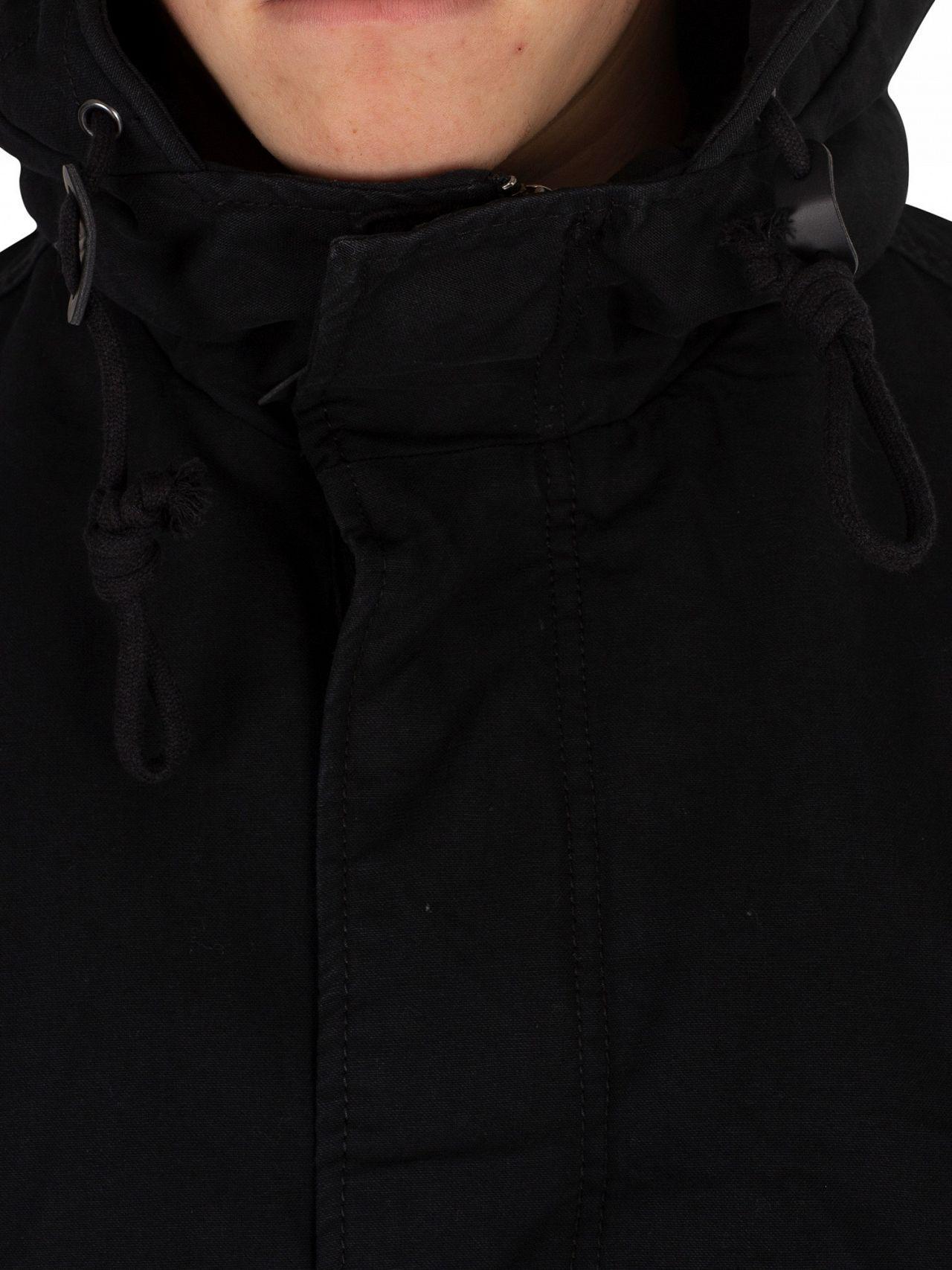 2dfbda4db Jack & Jones Black New Bento Parka Jacket