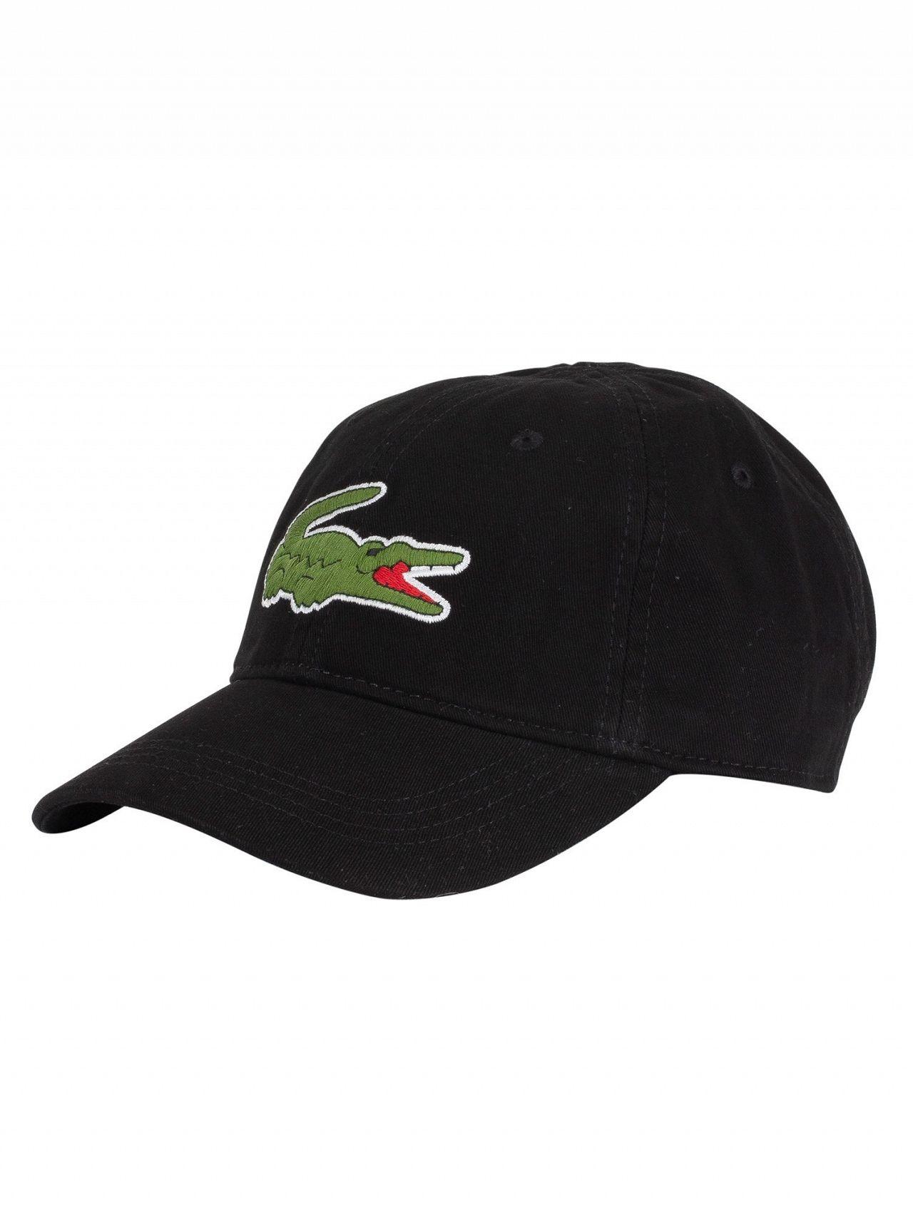 876254e72ee Lacoste Black Big Logo Baseball Cap