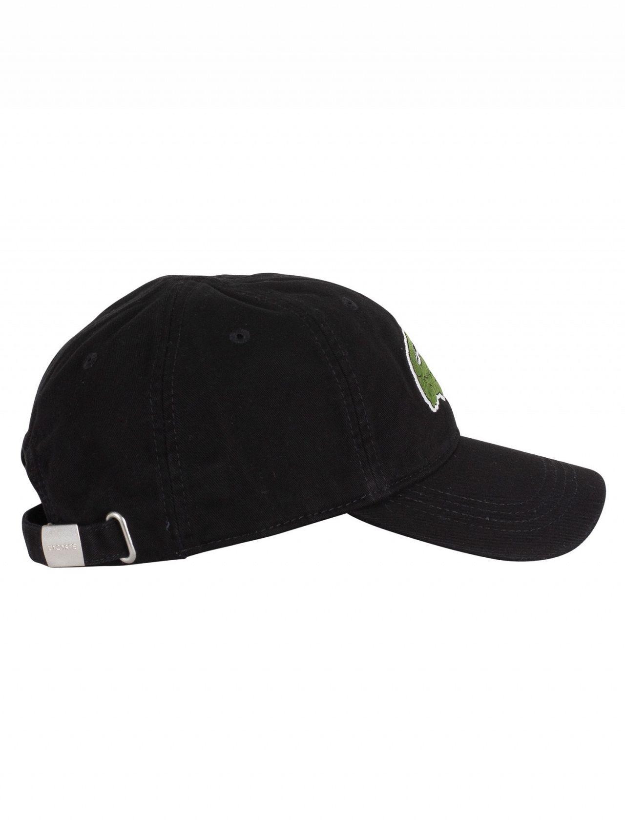 ba3bb9f8861 ... coupon code for lacoste black big logo baseball cap b2706 f75a5