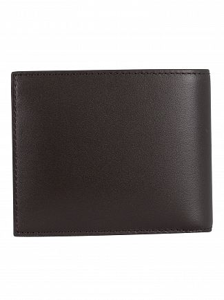 Lacoste Dark Brown Billfold Leather Wallet