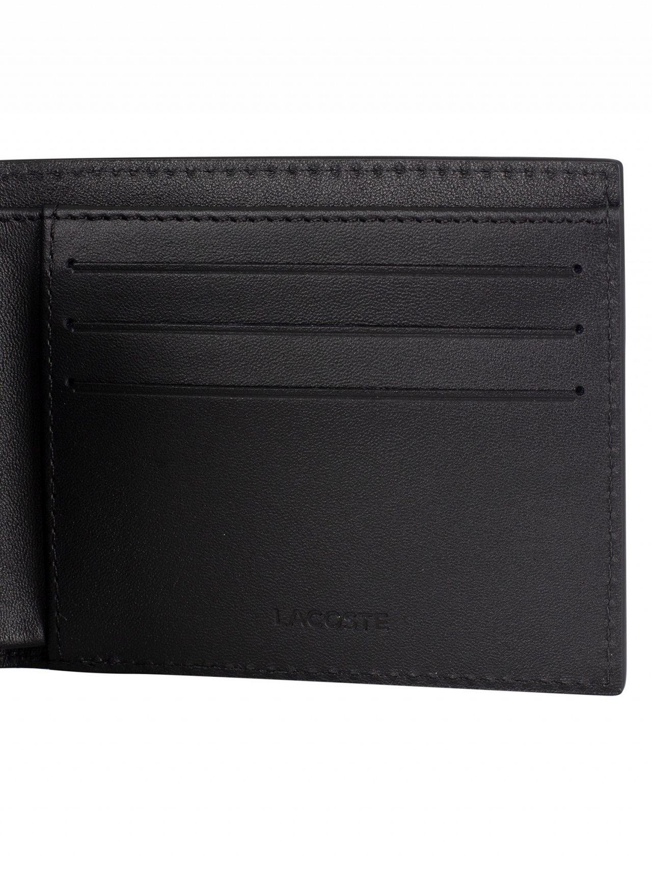 43caba3555de Lacoste Black Billfold Leather Wallet