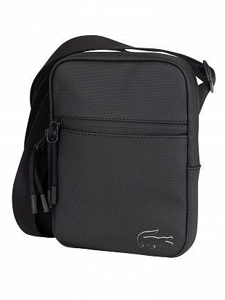 Lacoste Black Flat Crossover Bag