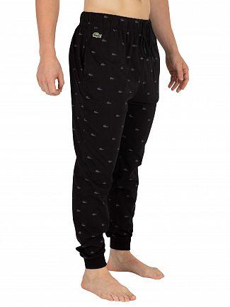 Lacoste Black Knit Pyjama Bottoms