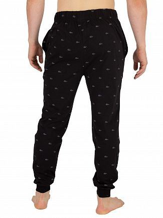 Lacoste Black Knit Pyjama Bottoms