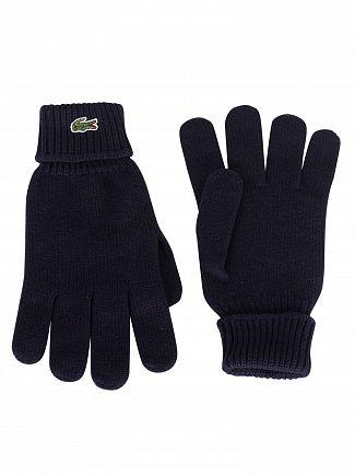 Lacoste Marine Logo Gloves