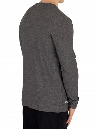 Lacoste Dark Grey Longsleeved Buttoned Pyjama Top