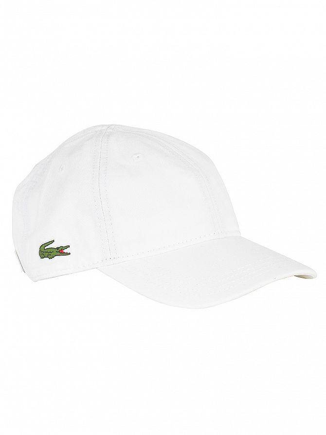 Lacoste White Small Logo Baseball Cap